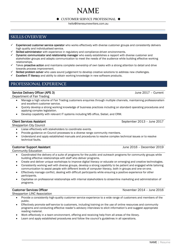 Customer Service Resume-1