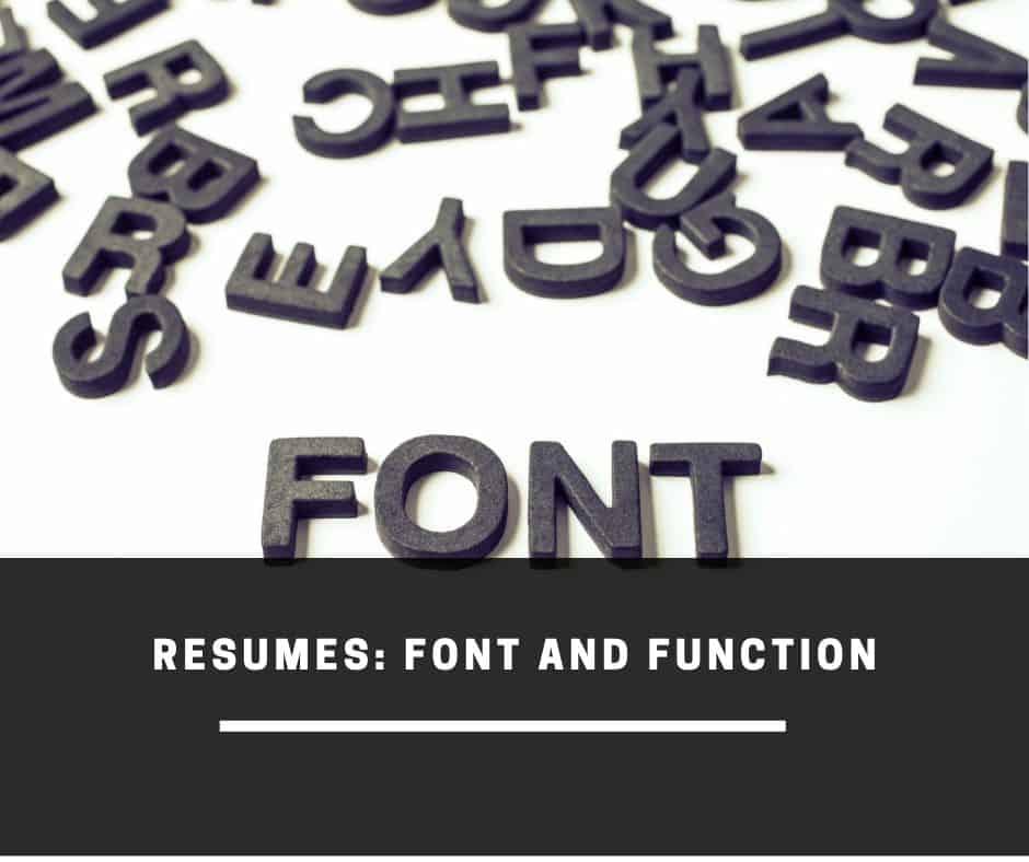 resume font