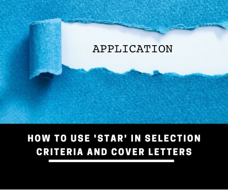 how to use star in selection criteria and cover letters