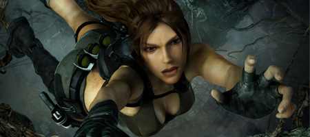 The one advantage of all this is that there's plenty of pictures of Lara losing grip.