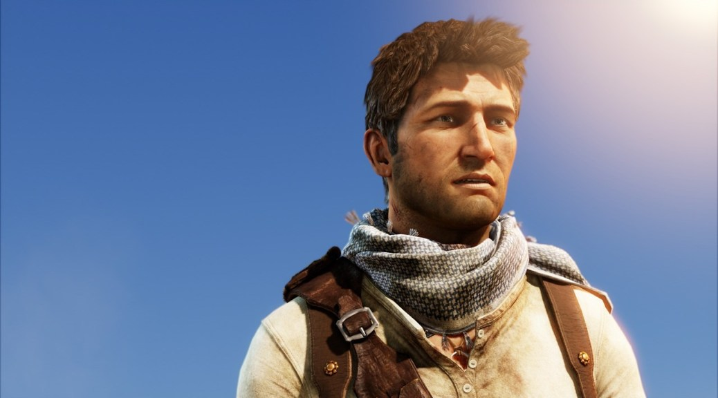 Nathan Drake, in the desert
