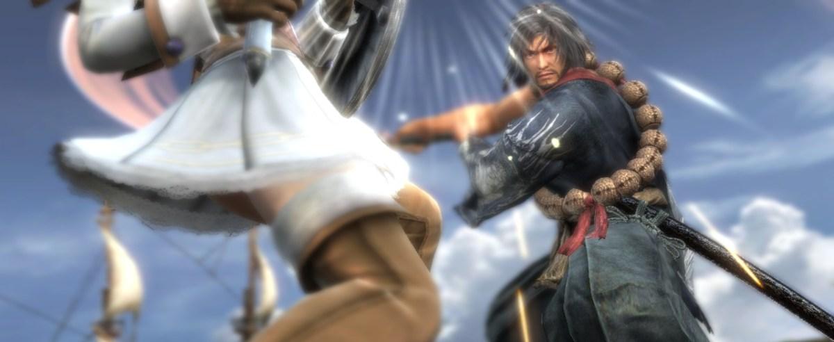 Mitsurugi faces off against Pyrrah