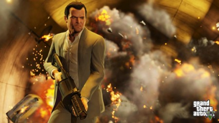 GTA V Grand Theft Auto 5 Michael Screenshot Cool Guys Don't Look At Explosions
