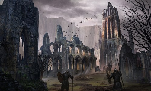 Unsung Story concept art medieval ruins