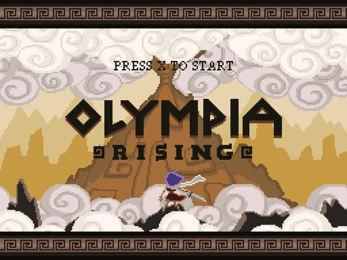 Olympia Rising Title Screen