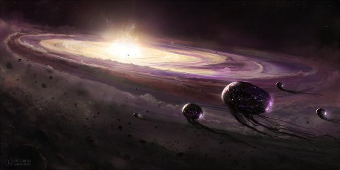 Space Pioneer alien galaxy artwork
