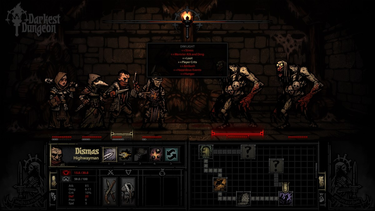 Darkest dungeon battle screenshot