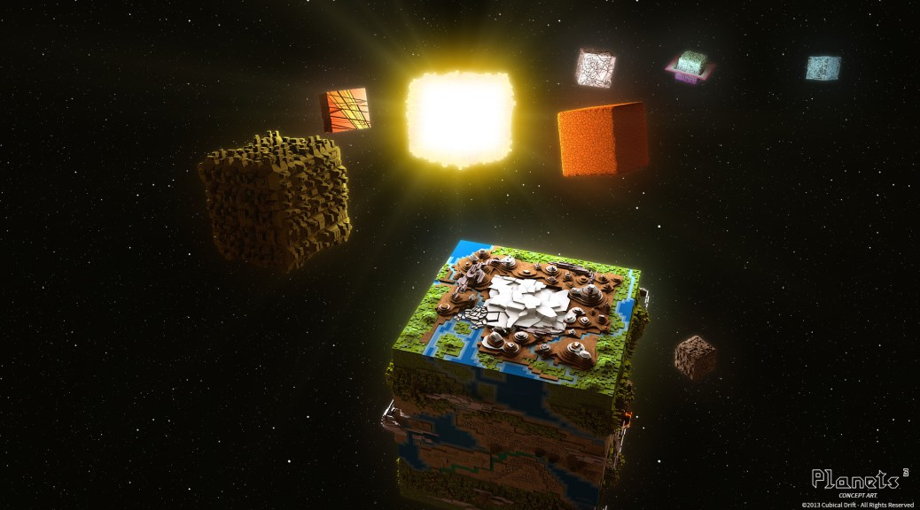 Planets Cubed solar system of cubed planets