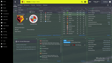 The new FM15 interface.