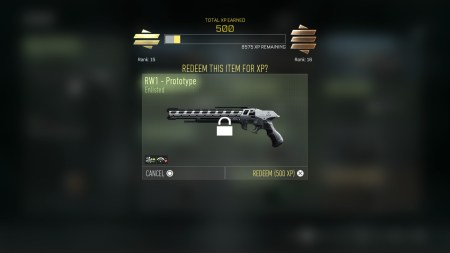 Don't like a weapon? Trade it in for XP. Shotguns aren't my cup of tea, they get slung quite quickly.