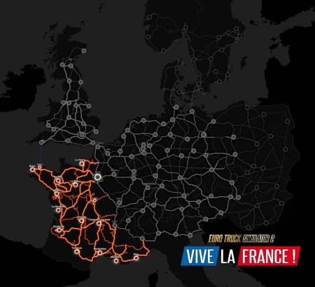 The ETS2 map is massive following the recent DLC packs.
