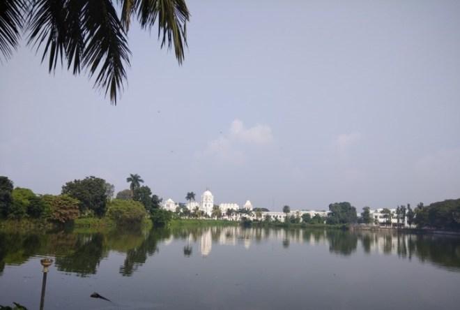 Agartala palace by the lake