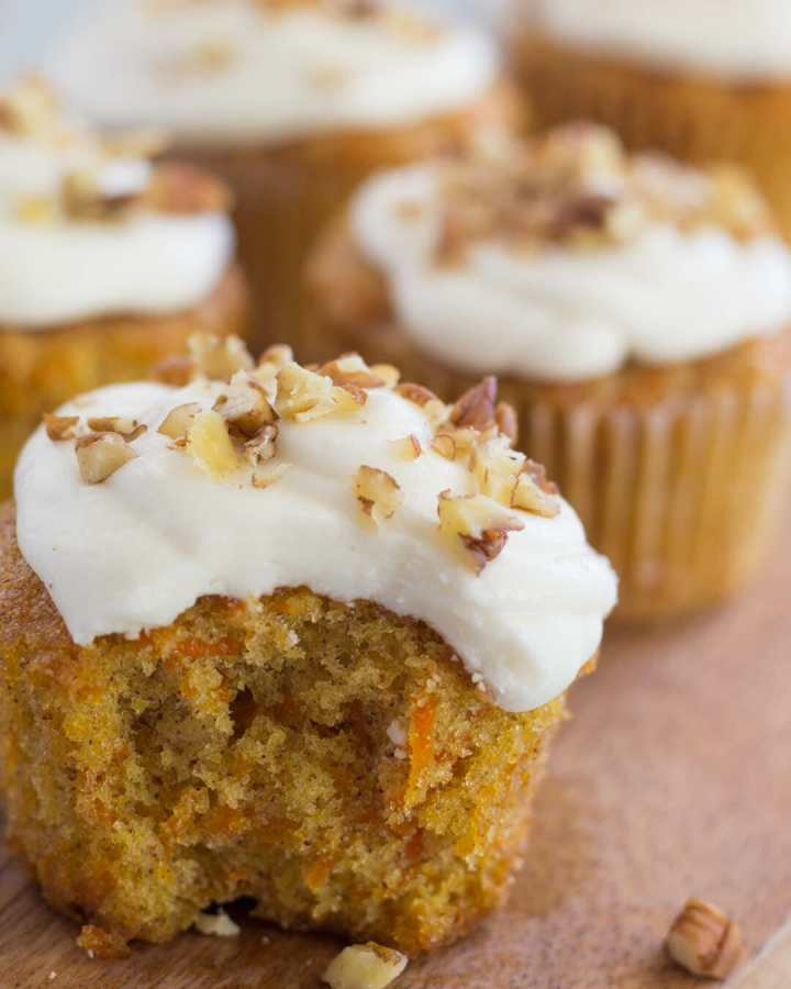Carrot Cake Cupcakes with Marscapone Frosting