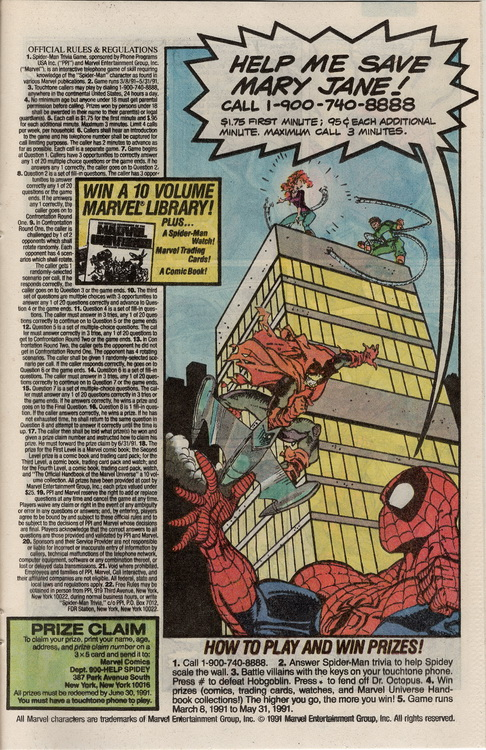 Deadly Foes of Spider-Man Trivia Game