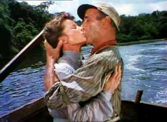 Katharine Hepburn and Humphrey Bogart.