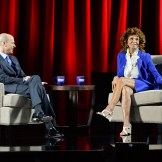 Sophia Loren and Eduardo Ponte at the Live from the TCM Classic Film Festival conversation with Sophia Loren event at the Montalban Theatre on Saturday 2015 TCM Classic Film Festival In Hollywood, California. 3/28/15 PH: Edward M. Pio Roda