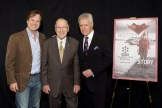 (L-R) Actor Bill Paxton, astronaut Jim Lovell and TV personality Alex Trebek attend the screening of 'Apollo 13' during day two of the 2015 TCM Classic Film Festival on March 27, 2015 in Los Angeles, California.