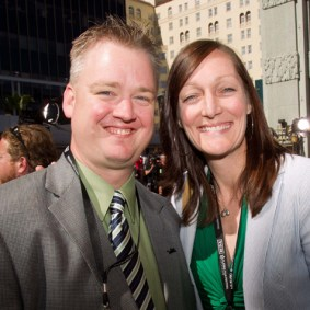 TCM's Scott McGee and Anne Wilson on Saturday at the TCM Classic Film Festival in Hollywood, California, 2011
