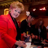 Debbie Reynolds signed autographs in Club TCM on Friday at the TCM Classic Film Festival in Hollywood, California, 2011