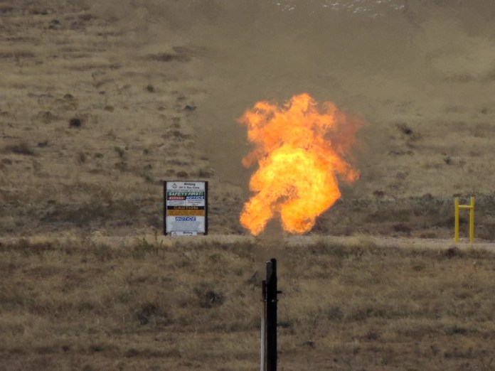 Flame from oil/gas flare