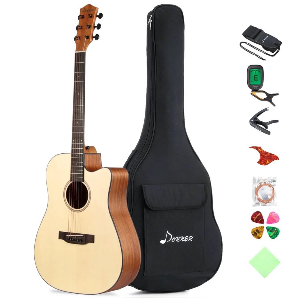 Donner DAG-1C Acoustic guitar, best electric guitar amp under 300
