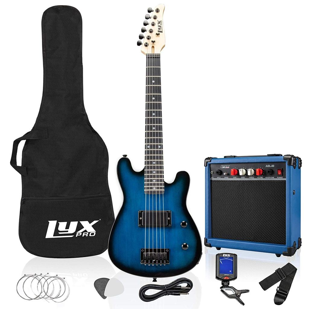 LyxPro electric guitar with a starter kit- top electric guitar under 300,