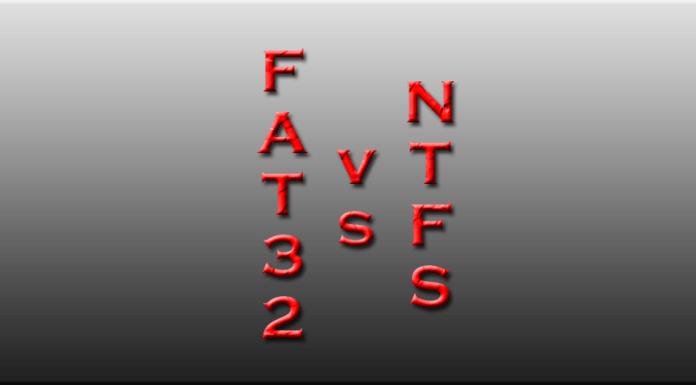 fat32 vs ntfs