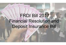 Financial Resolution and Deposit Insurance Bill