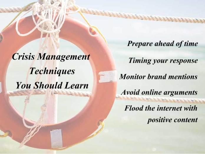 Crisis Management Techniques