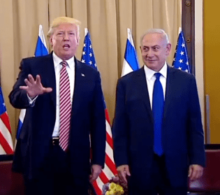 President Trump and Israeli Prime Minister Netanyahu during Trump's successful Israel trip, with no damaging leaks.
