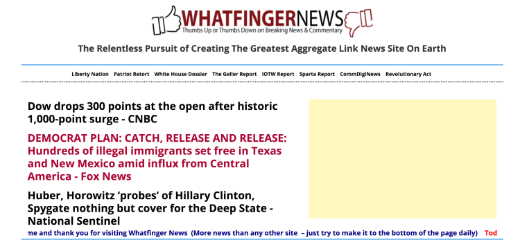 Whatfinger Has Solidified Itself As The Premier Drudge Alternative