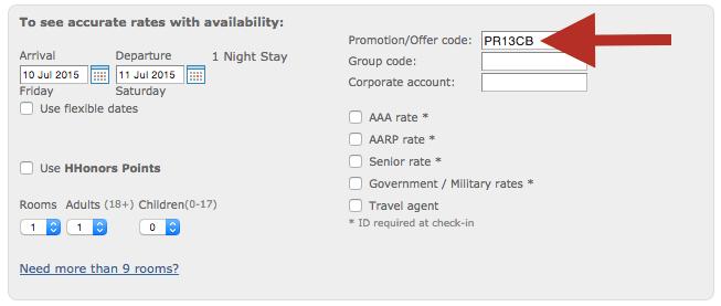 Hilton Travel Agent Code