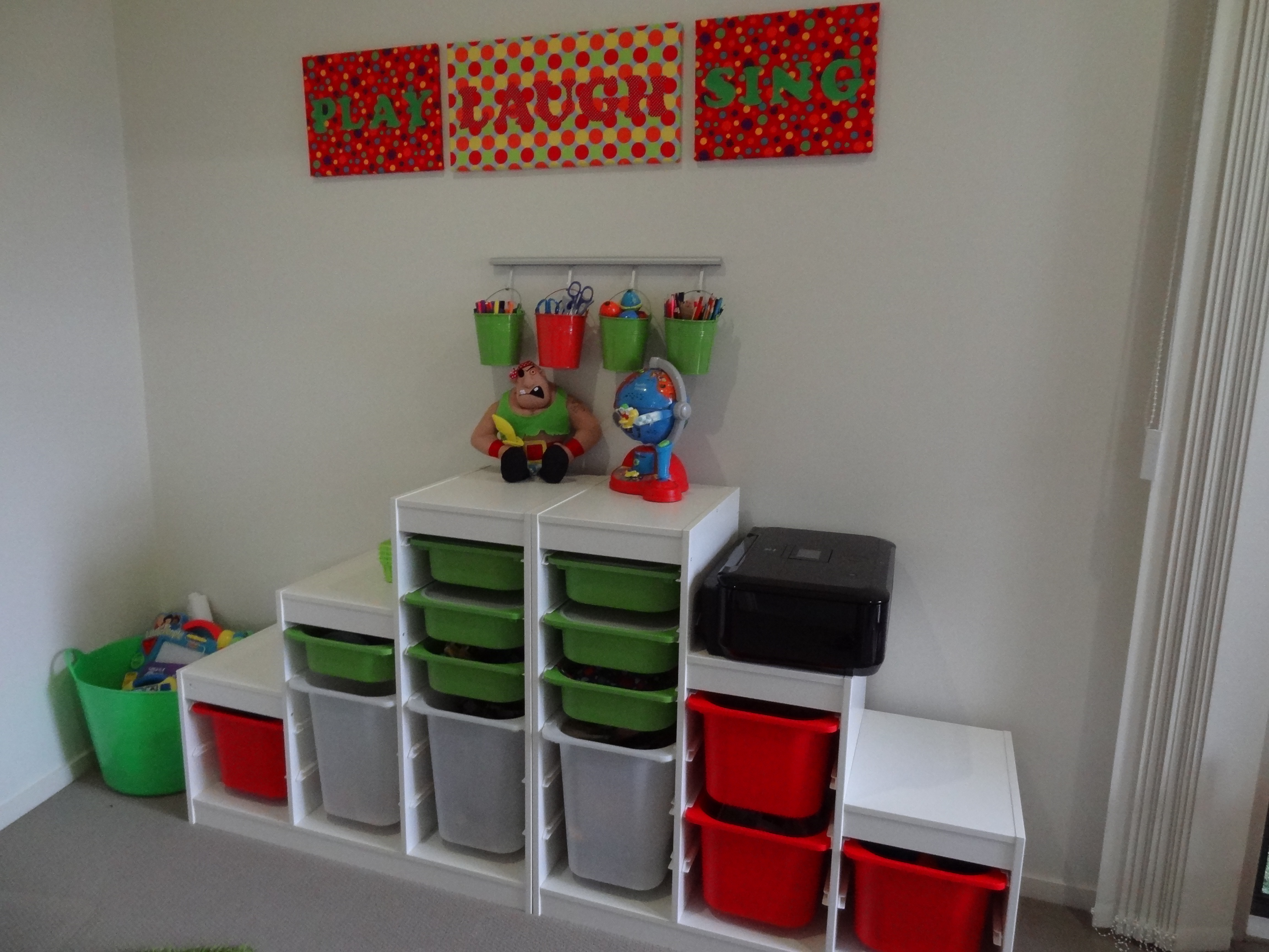 Creating A Kids Playroom Toy Storage There Was A