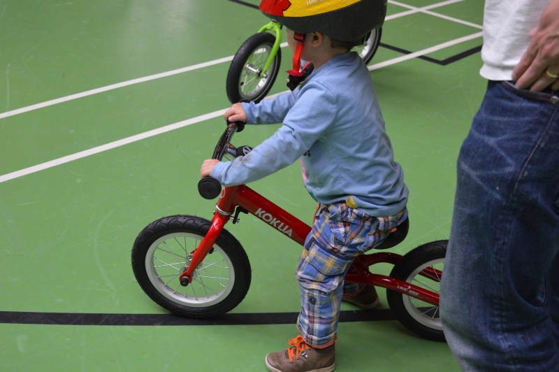 Balance bike class at Center Parcs