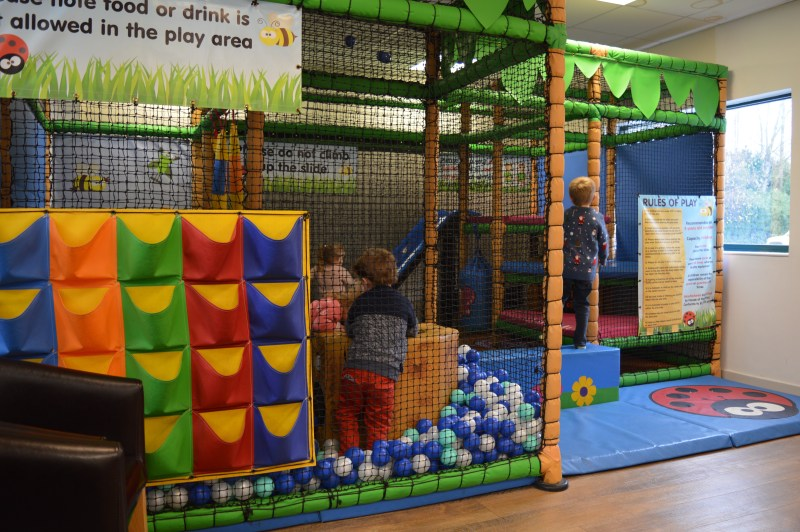 The soft play area at Wyevale Woburn Sands