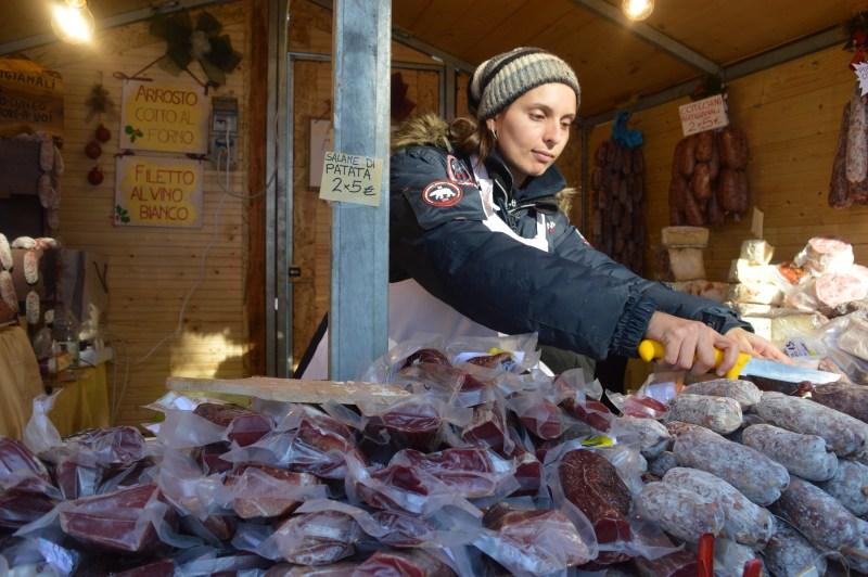 Salami at Govone Christmas market