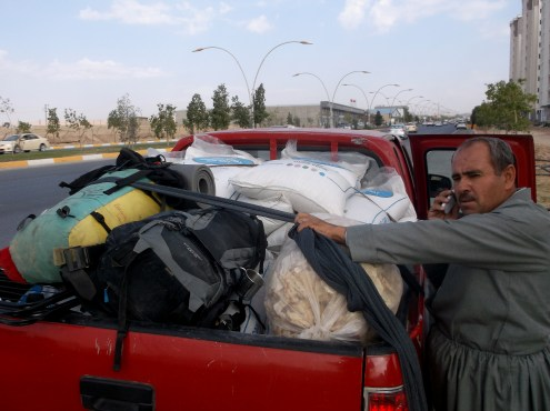 Hitchhiking out of Erbil