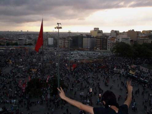 Taksim square during Gezi parc protests, Istanbul
