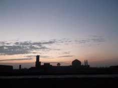 Sunrise over Yazd's rooftops