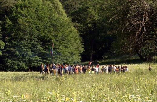 Circling at the Peace in the Middle East rainbow gathering