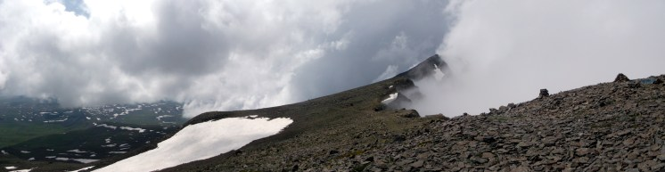 Hiking up the Aragats