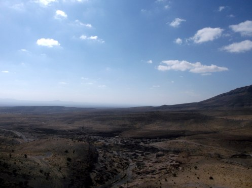 View over Meymand from a surrounding hill
