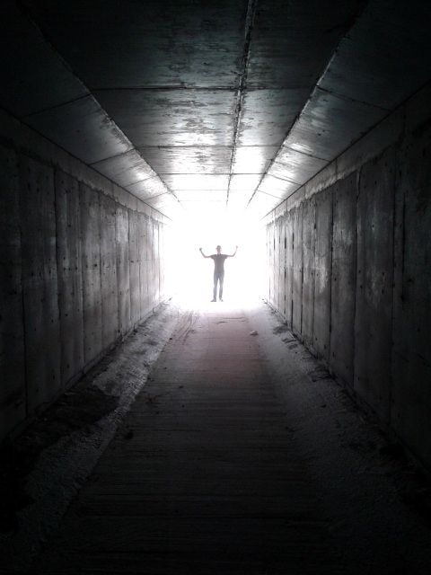 Light at the end of the tunnel, al-Khuwair, Muscat