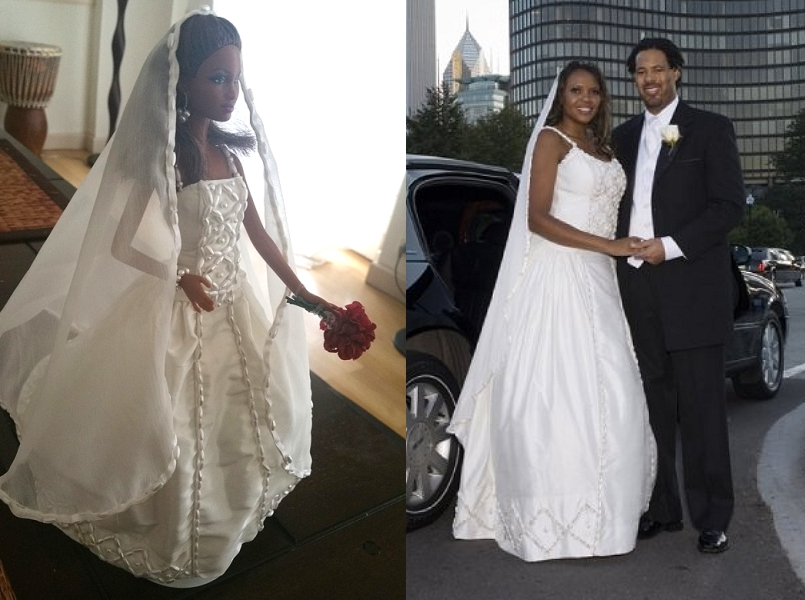 Miniature Wedding Dress Replicas