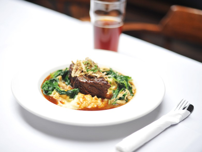 → New for Fall: Braised Short Ribs – with horseradish mashed potatoes in gravy and garlic rapini