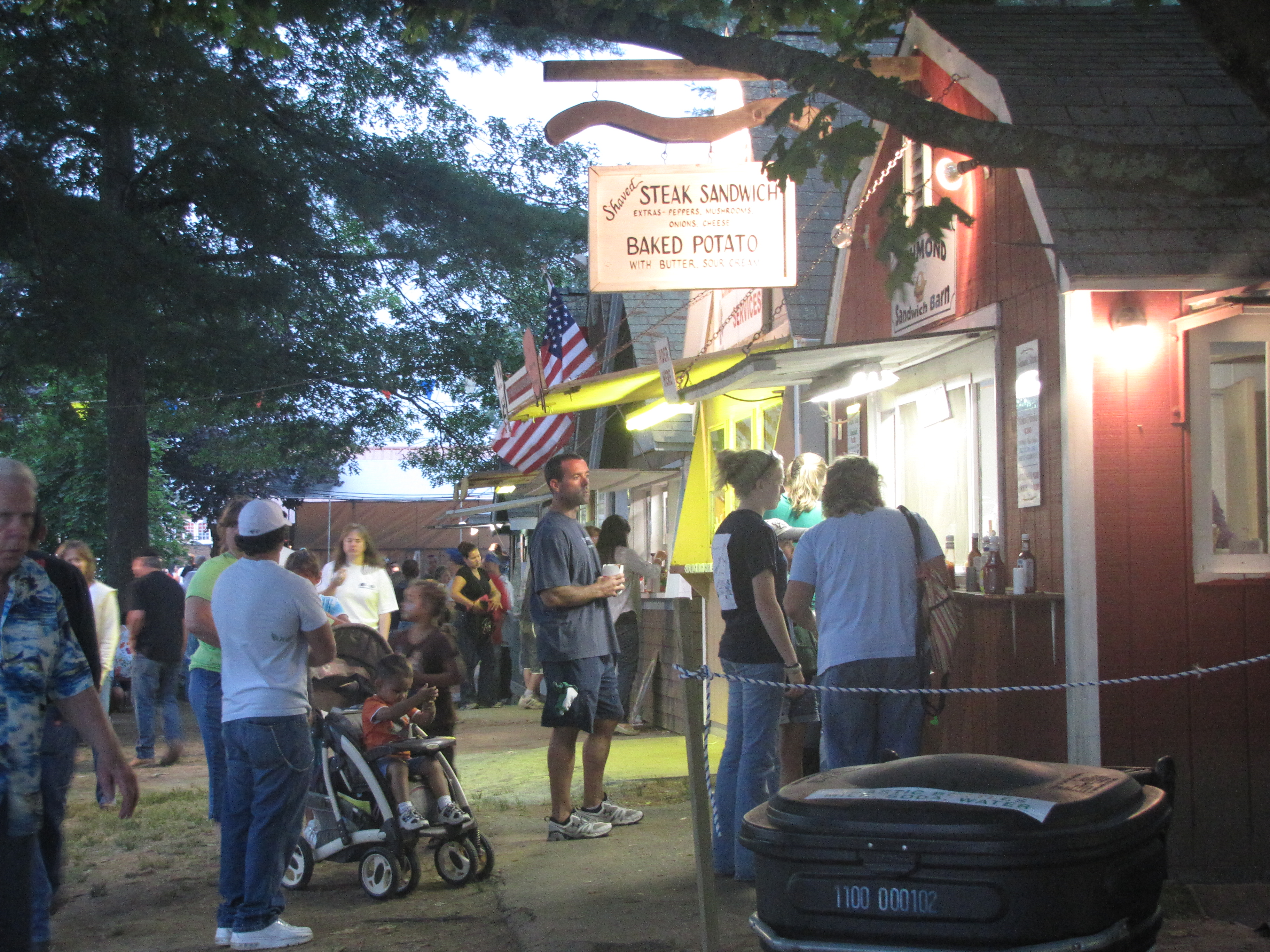 Richmond Sandwich Barn at the Washington County Fair.