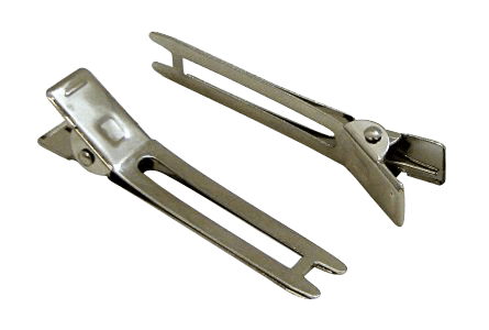 CLIPS Double Prong Clips STEEL Hardware Hair