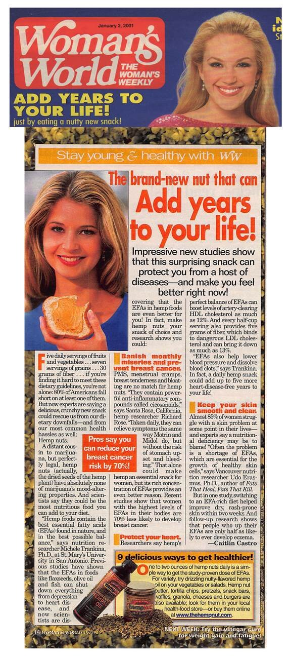 2001: The brand-new nut that can add years to your life!— Woman's World