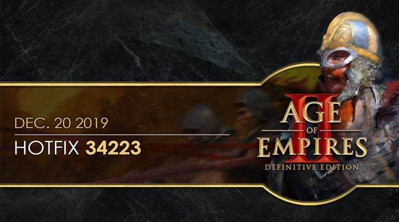 Age of Empires II: Definitive Edition — Hotfix 34223