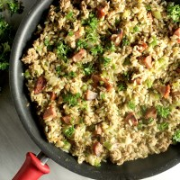 """Lighter"" Cajun Dirty Rice"